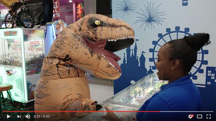 t-rex attacks arcade