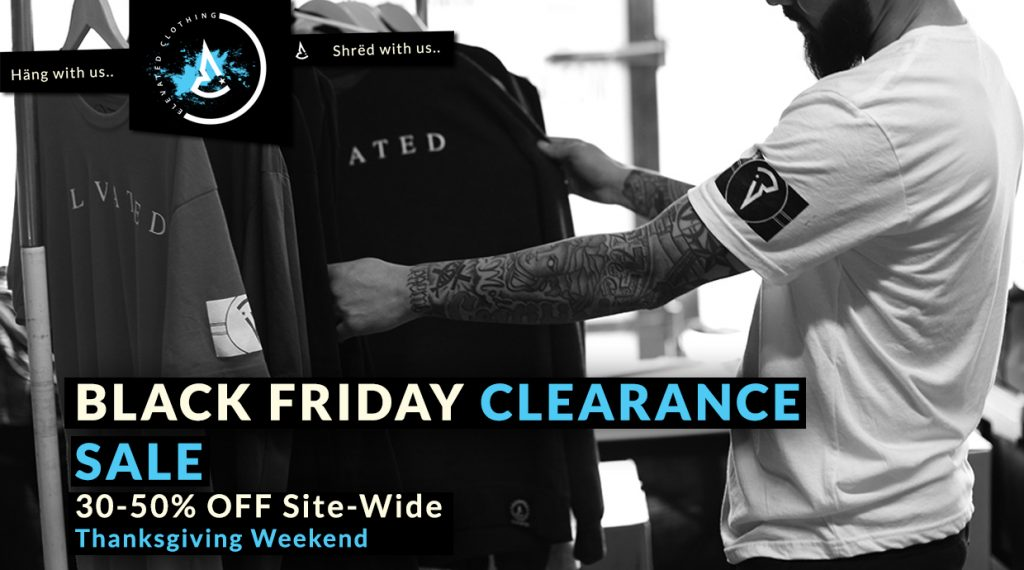 elevated clothing black friday clearance sale